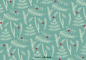 Vetor de padrão floral de natal
