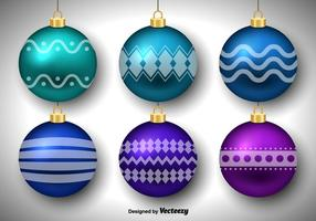 Bolas de Natal vetor