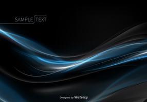 Vetor de onda azul abstrato