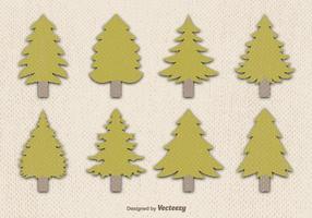Vetor de pinheiro plano