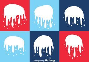 Conjunto de gotejamento Spraypaint branco vetor