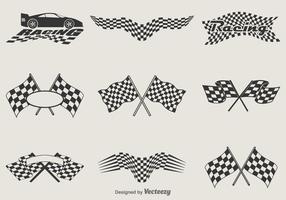 Bandeiras de corrida de vetores grátis