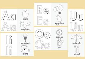 Páginas para colorir Vogais vetor