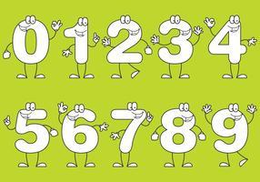 Número Cartoons vetor