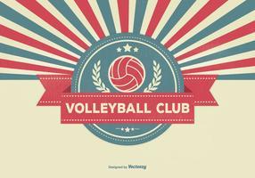 Ilustração retro do clube de voleibol vetor