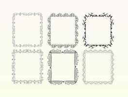 Conjunto de quadro decorativo vetor