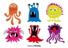 Monstros de desenhos animados vetor