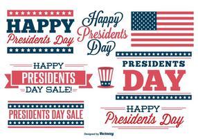 Conjunto de etiquetas do dia dos presidentes vetor