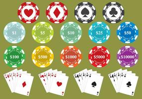 Fichas de pôker vetor
