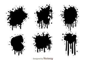 Gotejamento de spraypaint preto vetor