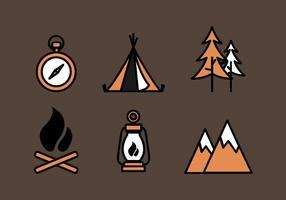 Conjunto de ícones de Boy Boy Scouts vetor