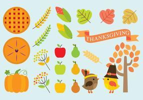 Ícones de Ação de Graças