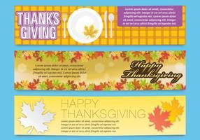 Banners de Ação de Graças vetor