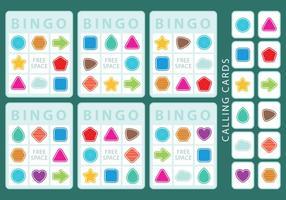 Formas de cartões de bingo