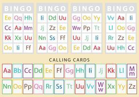 Caráteres Cartões de Bingo vetor