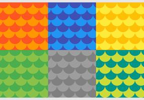 Escamas de peixe Padrões de vetores grátis