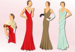 Moda 1930 vetor