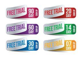 Vetor de avaliação gratuita de 30 dias