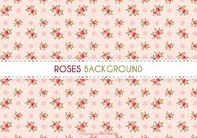 Fundo de vetor de rosas grátis