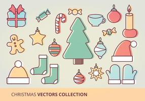 Conjunto de vetores de ícones de natal