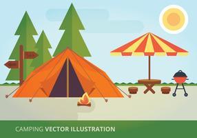 Ilustração vetorial de acampamento vetor