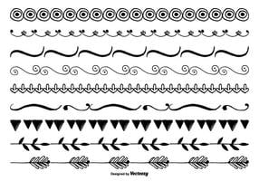 Cute Hand Draw Border Set vetor