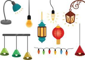 Vetores de luzes penduradas gratuitas