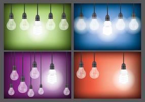 Vetores de luz suspensa