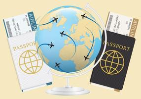 Bilhetes e passaportes vetor