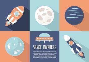 Fundo plano livre do vetor do espaço plano