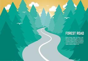 Fundo plano gratuito do vetor da natureza