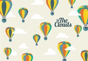 Fundo de balão de ar quente grátis vetor