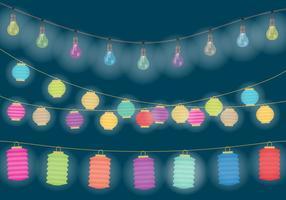 Luzes penduradas decorativas vetor