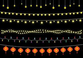 Vetor de luzes penduradas grátis