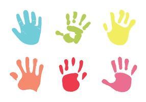 Ilustração vetorial gratuita da ilustração da mão do bebê vetor