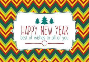 Ilustração colorida do ano novo feliz