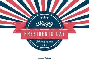 Ilustração retro do dia dos presidentes vetor