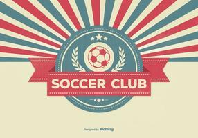Ilustração retro do clube do futebol do estilo