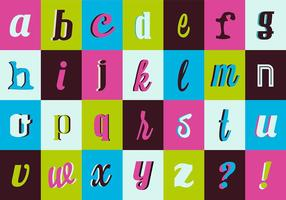 Coleção retro da tipografia do vetor do vintage