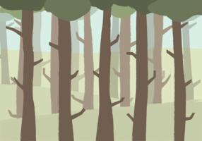 Vetor florestal grátis