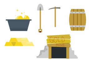 Conjunto de vetores de minério de ouro