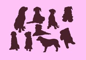 Vetor de silhueta de cachorro livre