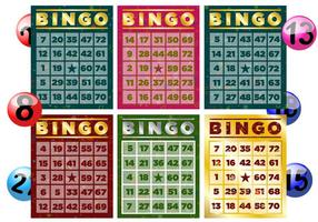 Vetores de cartão de bingo