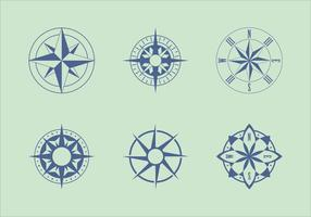 Vetores de cartas náuticas clássicas