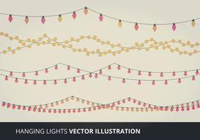 Elementos do vetor das luzes suspensas