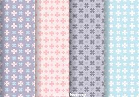 Vetores de padrões femininos de flor de amor