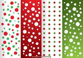 Padrão de ponto vermelho e verde vetor