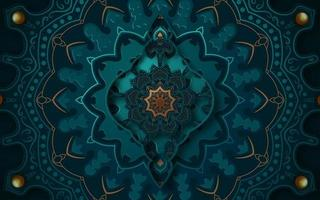 Design de mandala de arte islâmica 3D vetor
