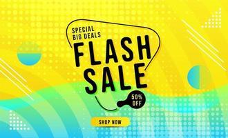 banner de venda flash moderna vetor