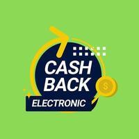 dinheiro eletrônico de volta
